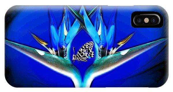 Blue Bird Of Paradise IPhone Case