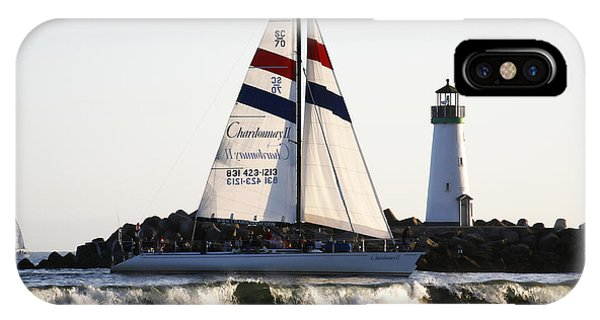 2 Boats Approach IPhone Case