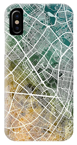 Colombian iPhone Case - Bogota Colombia City Map by Michael Tompsett