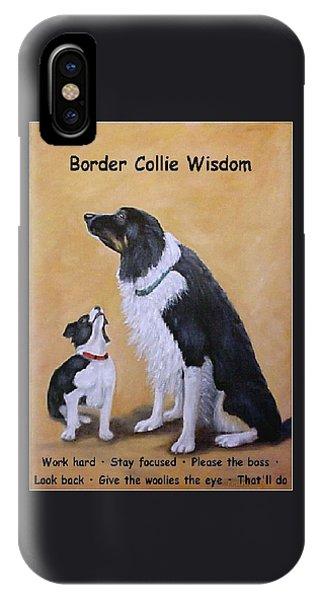 Border Collie Wisdom IPhone Case