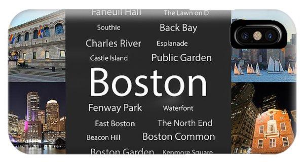 Boston Ma Collage IPhone Case