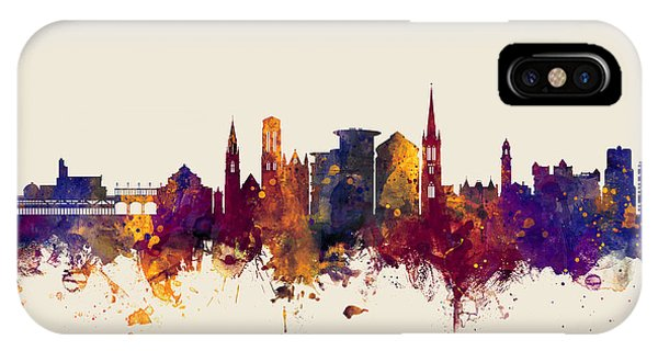 Bournemouth iPhone Case - Bournemouth England Skyline by Michael Tompsett