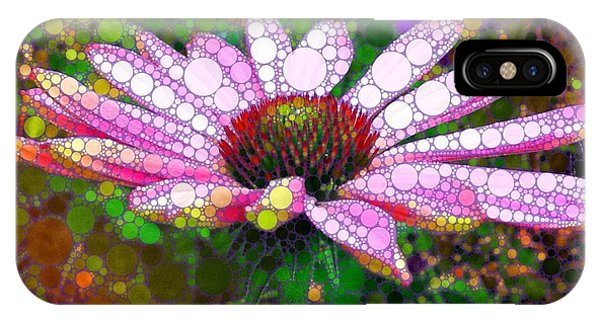 Pink Echinacea Mosaic IPhone Case