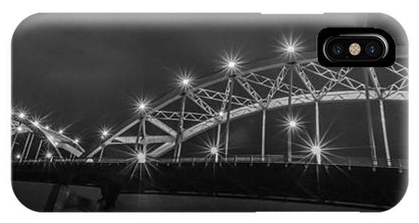 Centennial Bridge iPhone Case - Bridge Lights by Ray Congrove