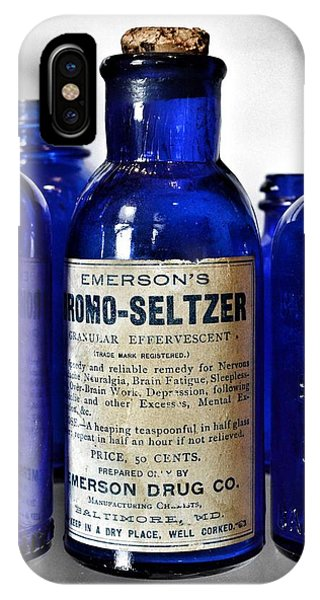 Bromo Seltzer Vintage Glass Bottles Collection IPhone Case