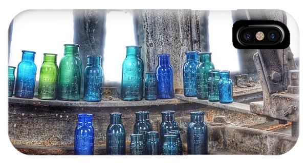 Bromo Seltzer Vintage Glass Bottles  IPhone Case