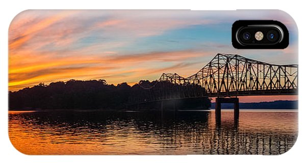 IPhone Case featuring the photograph Browns Bridge Sunset by Michael Sussman