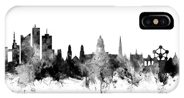 Brussels Belgium Skyline IPhone Case