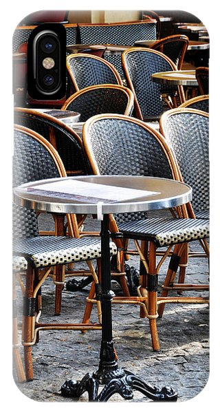 Cafe Terrace In Paris IPhone Case