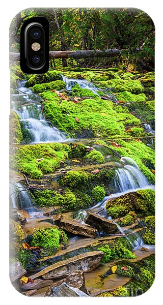 IPhone Case featuring the photograph Cascading Waterfall by Elena Elisseeva
