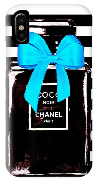Perfume iPhone Case - Chanel Noir Perfume  by Del Art