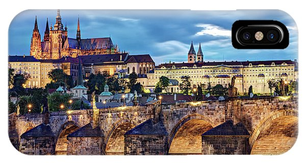 IPhone Case featuring the photograph Charles Bridge And Prague Castle / Prague by Barry O Carroll
