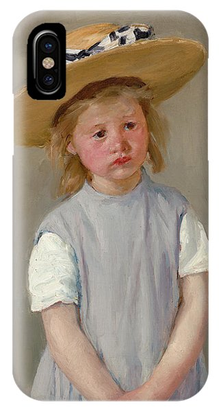iPhone Case - Child In A Straw Hat by Mary Cassatt