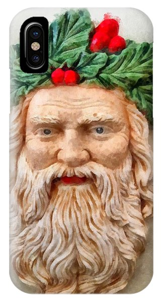 Yule iPhone Case - Christmas Santa Claus by Esoterica Art Agency