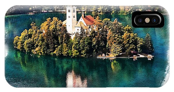 IPhone Case featuring the photograph Church Of The Assumption - Lake Bled, Slovenia by Joseph Hendrix