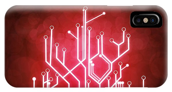 Abstract Digital iPhone Case - Circuit Board by Setsiri Silapasuwanchai