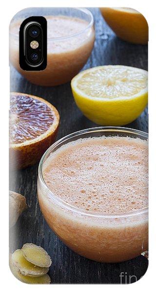 Grapefruit iPhone Case - Citrus Smoothies by Elena Elisseeva