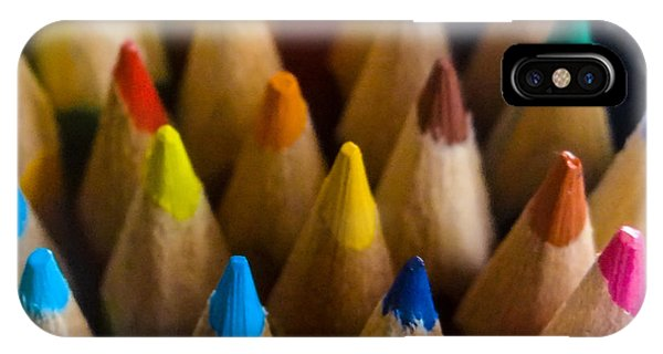 Coloured Pencil iPhone Case - Colours by Angela Aird