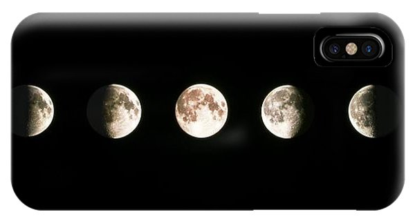 Full Moon iPhone Case - Composite Image Of The Phases Of The Moon by John Sanford
