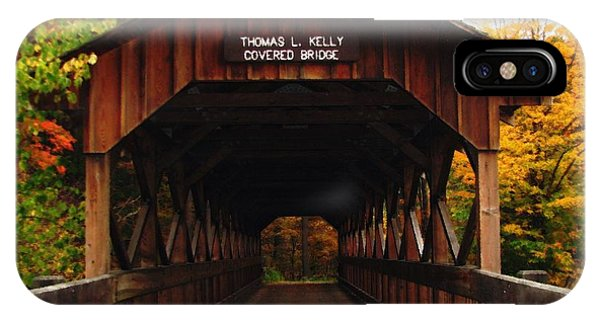 Covered Bridge At Allegany State Park IPhone Case