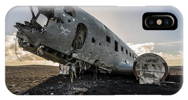 IPhone Case featuring the photograph Crashed Dc-3 by James Billings