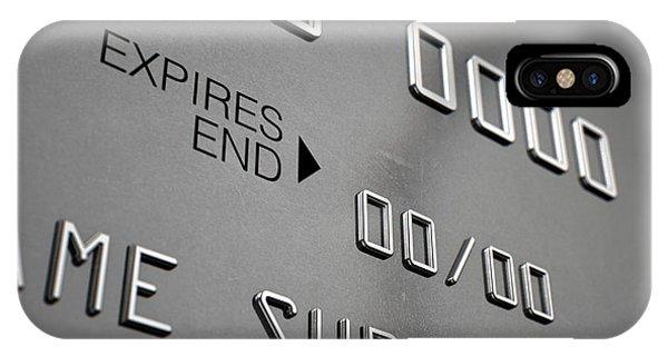 Credit Card Closeup IPhone Case