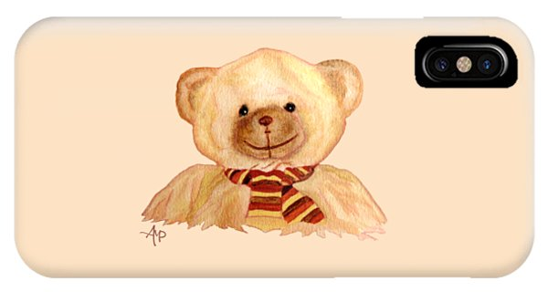 IPhone Case featuring the painting Cuddly Bear by Angeles M Pomata