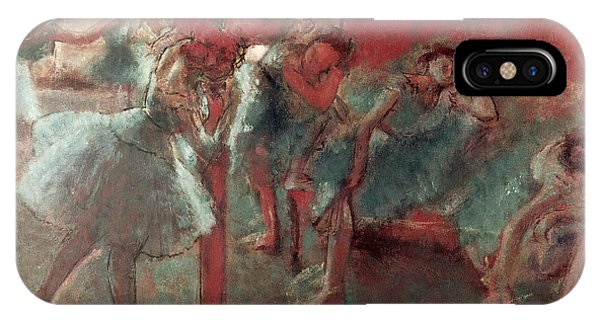 1895 iPhone Case - Dancers At Rehearsal by Edgar Degas