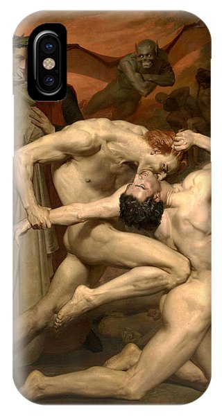 20th Century Man iPhone Case - Dante And Virgil In Hell  by William-Adolphe Bouguereau