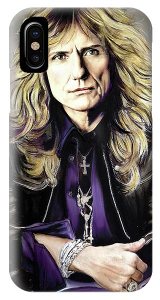 Jimmy Page iPhone Case - David Coverdale 1 by Melanie D