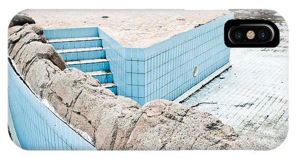 Alga iPhone X Case - Derelict Swimming Pool by Tom Gowanlock
