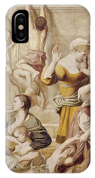 Donation iPhone Case - Detail Of Saint Cecilia Distributing Alms by Domenichino