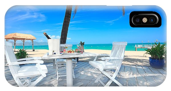 Table iPhone Case - Dinner On The Beach by MotHaiBaPhoto Prints