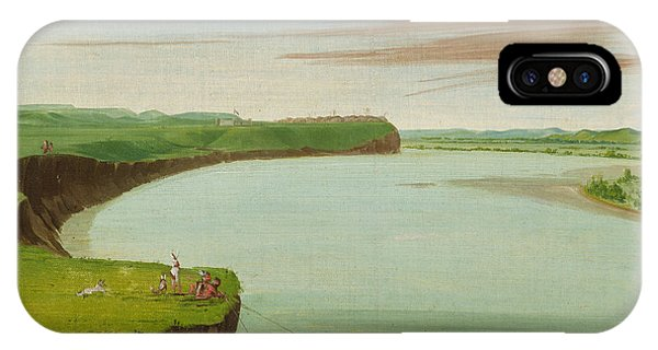 Distant View Of The Mandan Village IPhone Case
