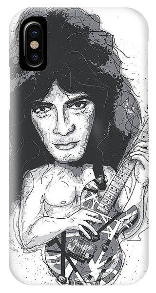 Van Halen iPhone Case - Eddie Van Halen by Gary Bodnar