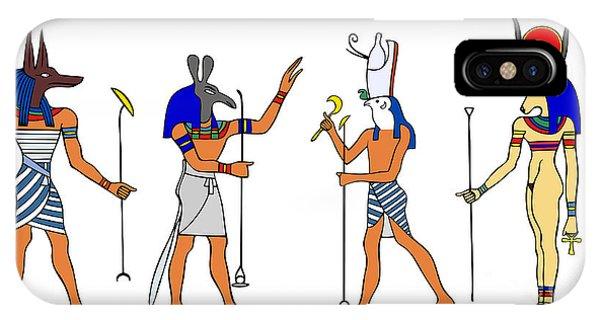 Egyptian Gods And Goddess IPhone Case