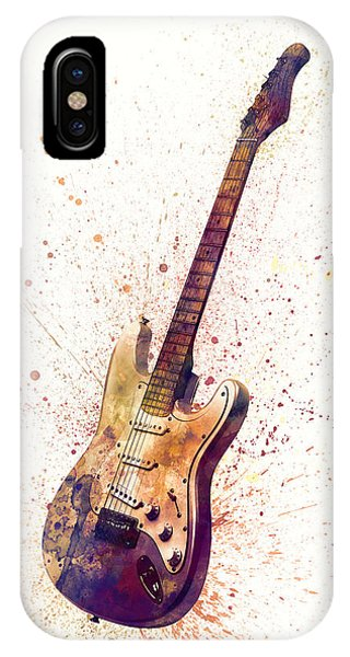 Musical iPhone Case - Electric Guitar Abstract Watercolor by Michael Tompsett