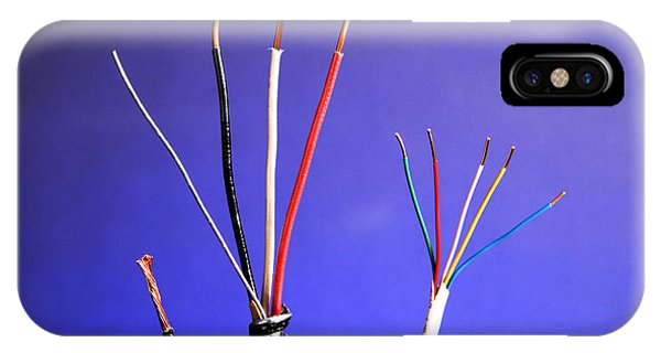 Electrical Component iPhone Case - Electrical Cable by Photo Researchers, Inc.
