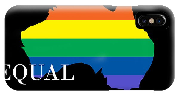 Gay Pride Flag iPhone Case - Equal Rights Australia by Snowflake Obsidian