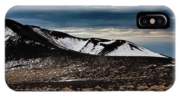 Etna, Red Mount Crater IPhone Case