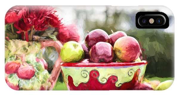 IPhone Case featuring the digital art Fall Harvest by Jill Wellington