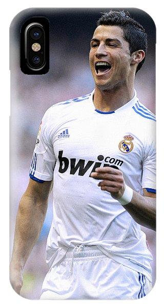 Cristiano Ronaldo iPhone Case - Cristiano Ronaldo 21 by Rafa Rivas