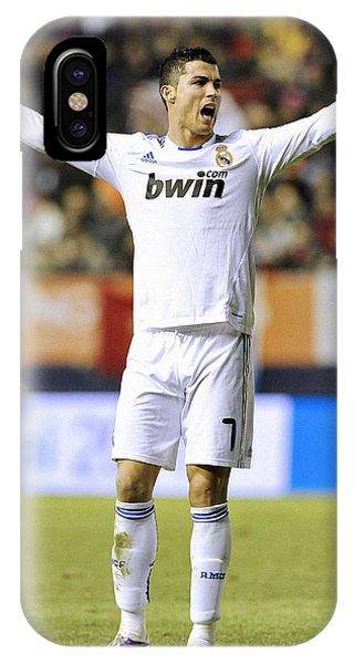 Cristiano Ronaldo iPhone Case - Cristiano Ronaldo 25 by Rafa Rivas