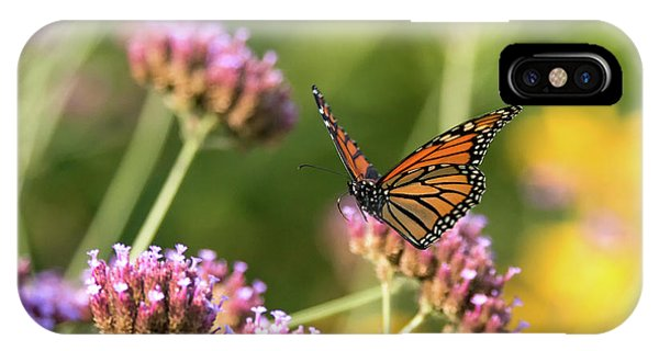IPhone Case featuring the photograph Flight Of The Monarch 1 by Brian Hale