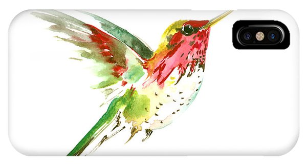Hummingbirds iPhone Case - Flying Hummingbird by Suren Nersisyan