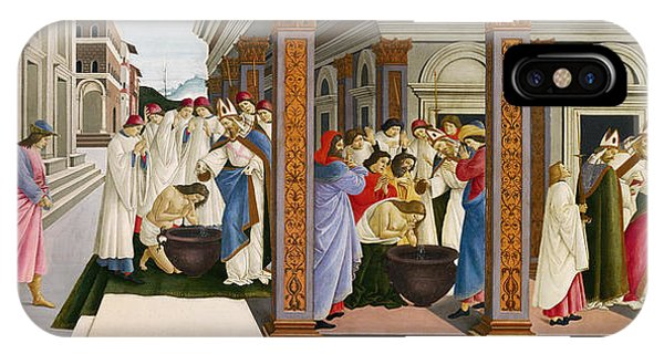 Botticelli iPhone Case - Four Scenes From The Early Life Of Saint Zenobius by Sandro Botticelli