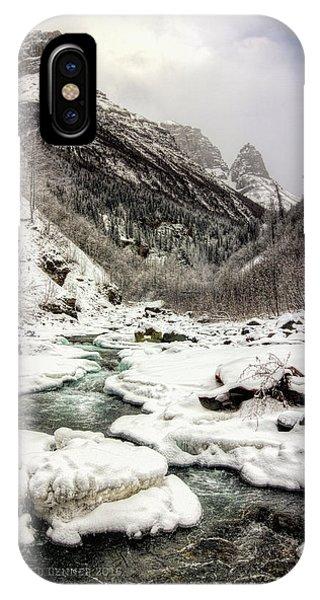 Freeze-up At Dan Creek IPhone Case