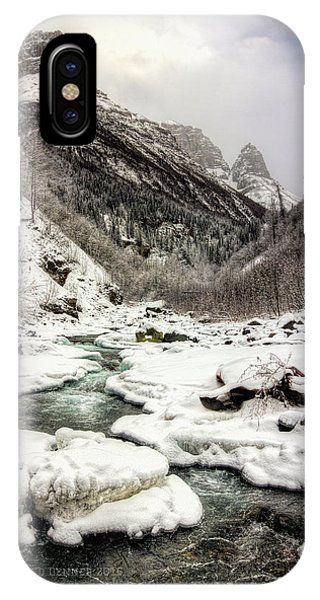 Freeze-up At Dan Creek IPhone Case