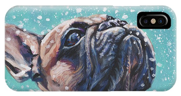 French Artist iPhone Case - French Bulldog by Lee Ann Shepard