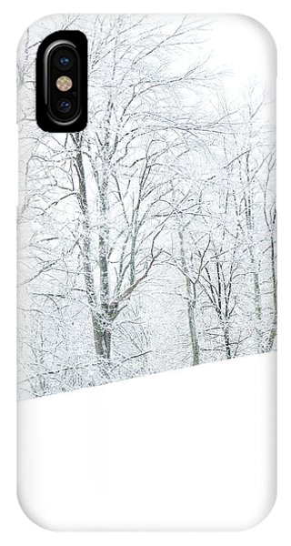 Treeline iPhone Case - Frosted Trees And Pasture Field by Thomas R Fletcher